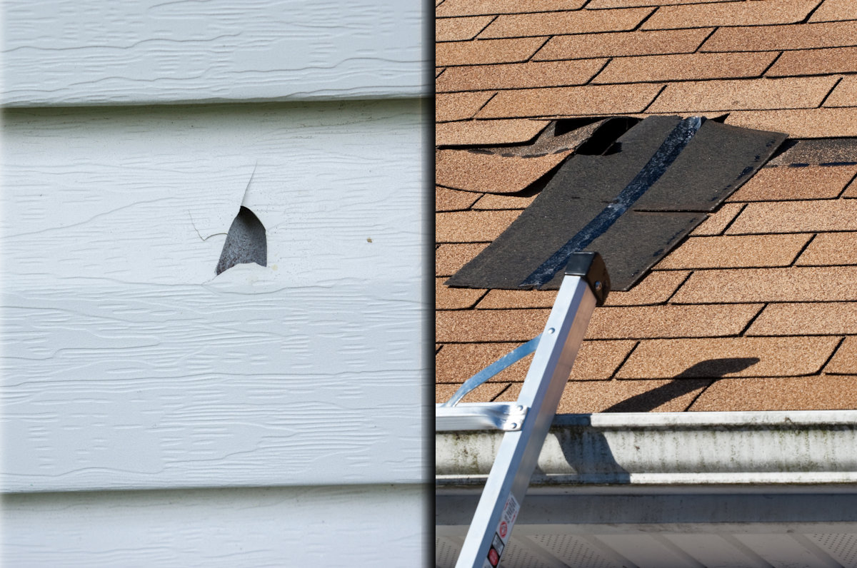 Hail and Wind Damage to a Home